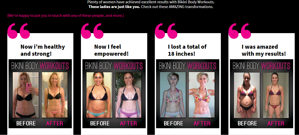 bikini body workouts result